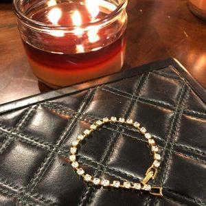 Jewelry - Gold and rhinestone bracelet 8 inches